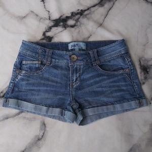 Jolt Lightly Distressed Cuffed 5 Pocket Shorts 7